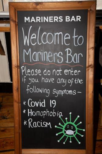 Welcome Board at Mariners Bar, Ramsgate