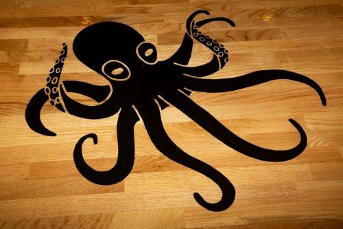 Mariners themed bar - octopus design on resin bar