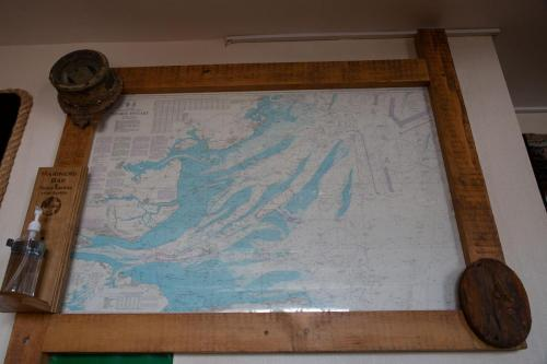 Nautical Maritime Chart feature at Mariners Bar Ramsgate